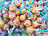 60pcs CHUPA CHUPS Mix Lollipops Apple Orange Grape Strawberry Ice Cream Flavors