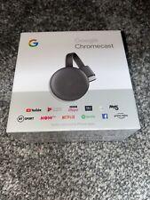 Google Chromecast 3rd Generation Media Streamer - Charcoal - NEW