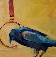JOSE TRUJILLO Oil Painting IMPRESSIONISM CROW BIRD COLLECTIBLE ARTIST NR SIGNED