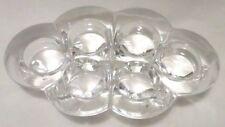 Vtg Glass Tea Light Votive Candle Holder Clear Glass 6 Cup Heavy Mid Century Mod