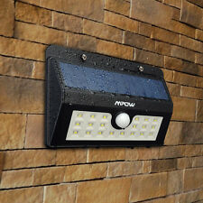 Mpow 20 LED Solar Power Motion Sensor Security Light Outdoor Wall Garden Lamps