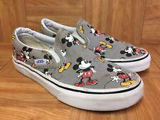 RARE🔥 VANS x Disney Slip On Mickey Mouse Print Sz 3.5 Men's - 5 Women's Shoes