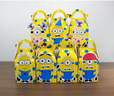 MINIONS PARTY FAVOUR BOXES KIDS BIRTHDAY LOLLY LOOT BAGS SUPPLIES DECORATIONS