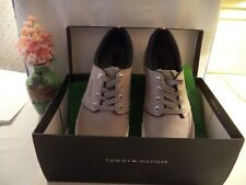 Tommy Hilfiger Men's Canvas Shoes 9.5M Light Gray - New