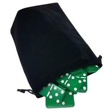 Domino Double Six 6 Green Big Tournament Pro Size Spinners Deluxe Velvet Bag