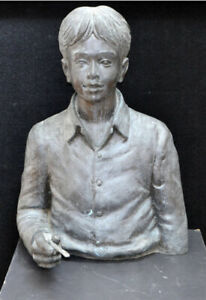 "David Bromley rare Sculpture ""The Young Artist""or ""The Young Painter"" Bronze"