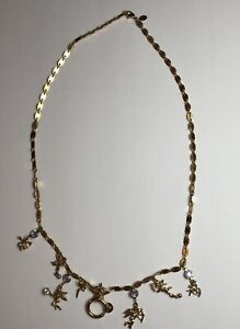 Kirks Folly Necklace Goldtone Chain Cupid Secrets Of 7 Angels Charm Holder