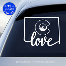 "Colorado State ""Love"" Decal with stylized Colorado flag in middle of decal!"