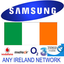 UNLOCK CODE SAMSUNG GALAXY S9 NOTE 8 S8 S7 EDGE S6 S5 IRELAND O2 VODAFONE THREE