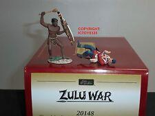 BRITAINS 20148 ZULU WAR WARRIOR ATTACKING BRITISH 24TH FOOT OVERWHELMED SET