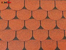 Dachschindeln 1m? Biberschindeln Ziegelrot (7 Stk) Schindeln Dachpappe Bitumen