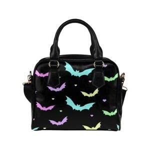 Pastel Bats Print Ladies Small Handbag, Crossbody bag, Summer, Creepy Cute Goth