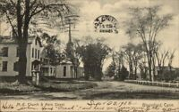 Bloomfield CT Church & Main St. c1910 Postcard