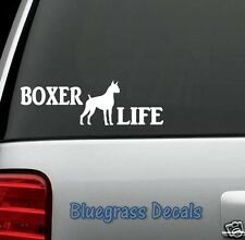 C1053 BOXER LIFE DOG Decal Sticker for Car Truck SUV Van LAPTOP GERMANY BREED