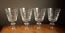 "4 Webb Corbett England ""Sir Philip"" Crystal Large Water stemware glasses 5"" tall"
