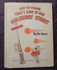 1937 MULBERRY STREET by Dr. Seuss HC GD 2.0 Famous / Hale - Library Copy