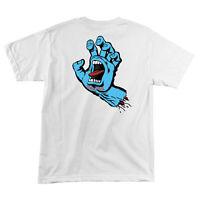 Santa Cruz Screaming Hand T Shirt Tee Skateboard White Brand New S M L XL XXL