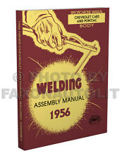 1956 Pontiac Fisher Body Welding Assembly Manual Star Chief Chieftain Catalina