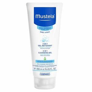 Mustela 2 in 1 Cleansing Gel, Baby Body & Hair Cleanser for Normal Skin, Tear-Fr