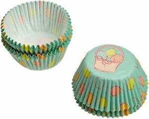 WILTON 100 MINI MUFFIN CUPCAKE BAKING CASES PETIT SPRING EASTER BAKING CUPS NEW