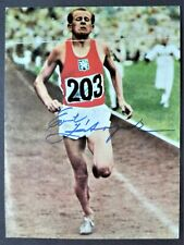 ZATOPEK EMIL CZECH 5,000m & 10,000M OLYMPIC GOLD MEDALS 1952 SIGNED PHOTOGRAPH