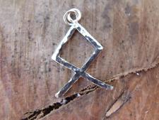 Viking Runes the letter O, Othila  Sterling silver pendant Norse