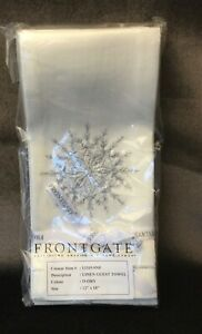 Set of 6 Frontgate Christmas Snowflake Guest Towels New In Package