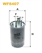Genuine Wix Fuel Filter WF8407 for Vauxhall Meriva I A 1.3 CDTi 75 HP see list