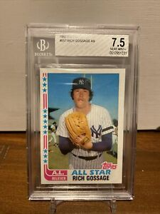 1982 Topps All Star Rich Goose Gossage BGS 7.5 New York Yankees