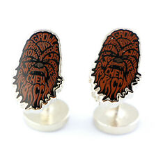 Star Wars Chewbacca Mens Cufflink Typography Lucasfilm Chewy Officially Licensed