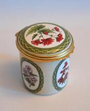Halcyon Days Enamels Begoniaceae Box In 19th Century Manner