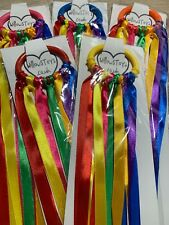 Rainbow Sensory Ribbon Link Ring with 7 Colours Baby Shower Gift Girl Boy