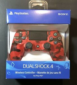 Dualshock 4 Wireless PS4 Controller: Red Camo - Sony PlayStation 4