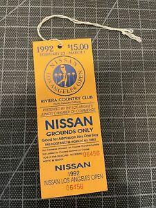 TIGER WOODS PGA DEBUT 1992 NISSAN LOS ANGELES OPEN GOLF TOURAMENT TICKET NM
