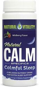 Natural Calm Calmful Sleep by Natural Vitality, 4 oz Wild Berry