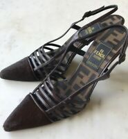 FENDI womens pre-owned pony hair sling back heel shoes sz 6 - made in Italy