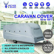 16-18FT UV WEATHERPROOF CARAVAN CAMPERVAN COVER HEAVYDUTY TRAILER 4 LAYER 4 SIDE