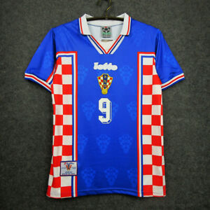 1998 Croatia Away Shirt Soccer Jersey #9 Suker All Sizes