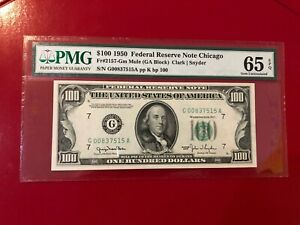 $100 1950 FEDERAL RESERVE NOTE CHICAGO FR#2157 GM MULE CLARK SNYDER PMG 65 EPQ