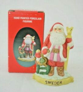 Santa's of the Nations - Sweden - Jultomte #8905 - Hand Painted Figurine