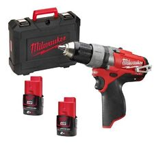 Trapano Avvitatore Milwaukee 12volt Litio Fuel 2.0ah M12 CDD-202C Nuovo