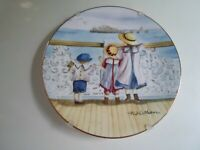 """Seaside Days""  ""Sweet Summer Days"" Royal Worcester Plate by Faye Whittaker"