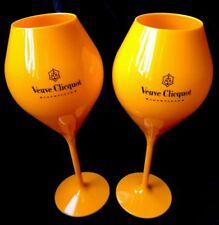 Veuve Clicquot Champagne Orange Acrylic Tasting Glass EXTRA XL Large NEW X 2