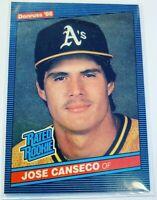 1986 Donruss Jose Canseco Oakland Athletics #39 Baseball Card