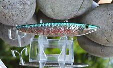 rare yo zuri metallic sardine 100g 3.5oz scaled finish green back chrome jig