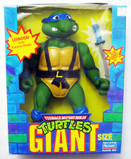 "1989 GIANT 13"" POSEABLE LEONARDO TEENAGE MUTANT NINJA TURTLE TMNT W KATANA BOXED"