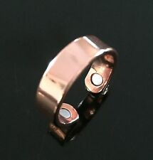 Copper Magnetic Therapy Ring Band Pure Mens Womens Rare Earth Healing Arthritis