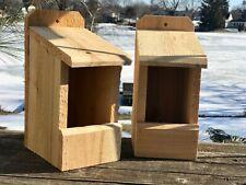 """2 Robin Cardinal Wren Chickadee Bird Nesting Box 3/4"""" Thick Cedar Top Seller!"""