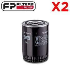 2 x W940/15N Mann Oil Filter - Ford, Massey Ferguson - BT111, LF3449, P553411