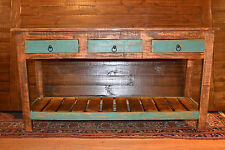 Rustic Reclaimed Solid Wood Sofa Table  Console Table   Hallway Table Entry Way